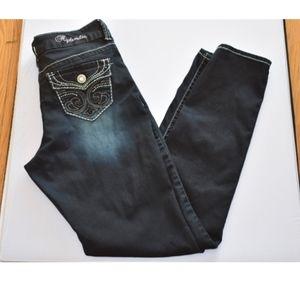 Hydraulic Dark Denim Jeans Embellished pockets A19